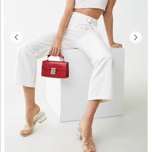 Belted Seamed Pants